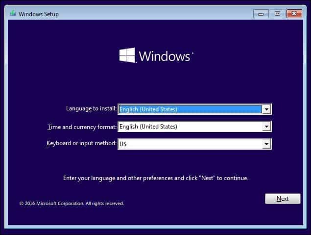 Configuración de Windows 2