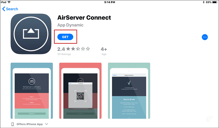 Instalar AirServer Connect iOS
